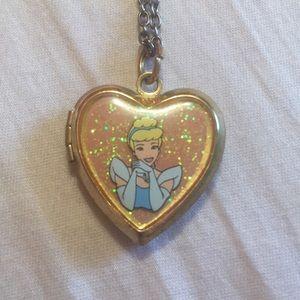 Disney Cinderella Gold Heart Locket Necklace